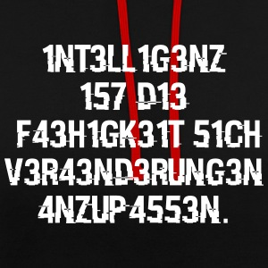 intelligence - Contrast Colour Hoodie
