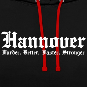 Hanover Harder Better Faster Stronger City - Contrast Colour Hoodie