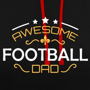 Football dad - Contrast Colour Hoodie