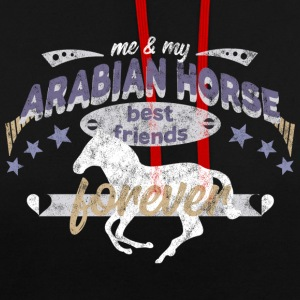 Cheval Arabe Cheval Arabe race BFF - Sweat-shirt contraste