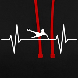 My heart beats for football! present - Contrast Colour Hoodie