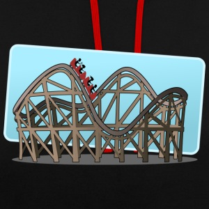 roller coaster - Contrast Colour Hoodie