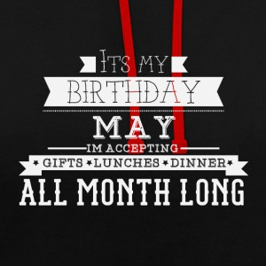 My birthday May - Contrast Colour Hoodie