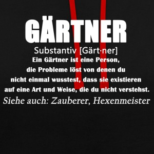 Gärtner - Gärtner Definition - Kontrast-Hoodie