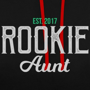 New Aunt rookie auntie gift - auntie - Contrast Colour Hoodie
