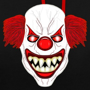 horreur Clown - Sweat-shirt contraste