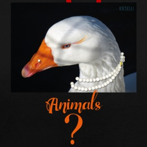 animals - goose - Contrast Colour Hoodie