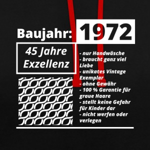 Year of construction 1972 - Contrast Colour Hoodie