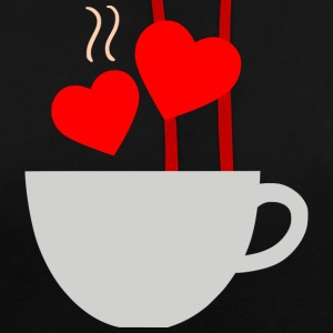 Coffee with hearts - Contrast Colour Hoodie