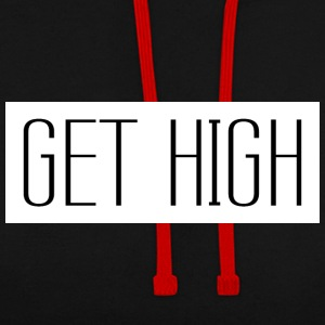 Get High Blanc 002 modèles ronds - Sweat-shirt contraste