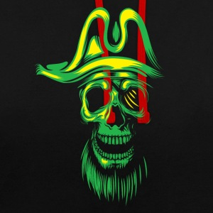 Glow Skull Pirate Barbe T-shirt T - Sweat-shirt contraste