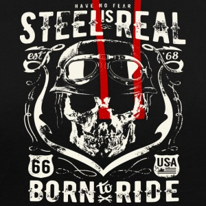 Har No Fear Is Real Steel Born to Ride est 68 - Kontrast-hettegenser