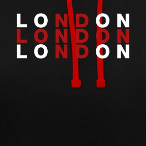 London, Storbritannien Flag Shirt - London t-shirt - Kontrast-hættetrøje