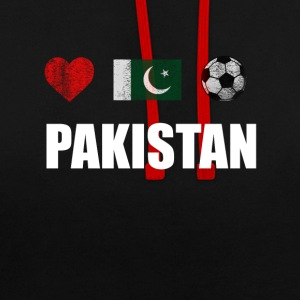 Pakistan Football Shirt - Pakistan Soccer Jersey - Sweat-shirt contraste