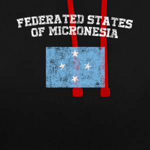 The Federated States of Micronesia Flag Shirt - We - Contrast Colour Hoodie
