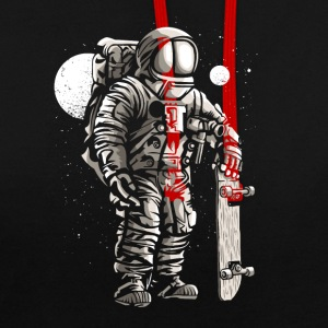 patineurs d'astronautes - Sweat-shirt contraste