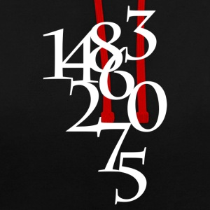 Numbers - Contrast Colour Hoodie