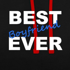 Best Boyfriend Ever Freund T-Shirt - Kontrast-Hoodie