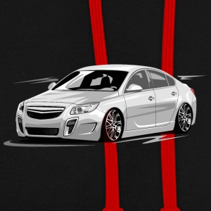 Tuning,car,shirt,design - Kontrast-Hoodie