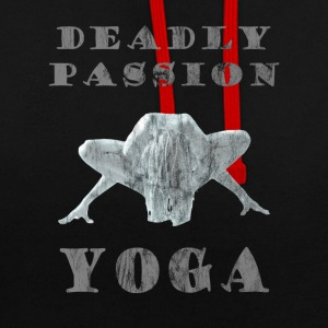 Yoga - Deadly Passion - Design Washed & Worn - Contrast Colour Hoodie