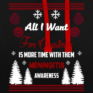 Meningitis Awareness! All I Want For Christmas! - Contrast Colour Hoodie