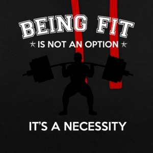 BEING FIT - Contrast Colour Hoodie