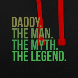 parents daddy the man - Kontrast-Hoodie