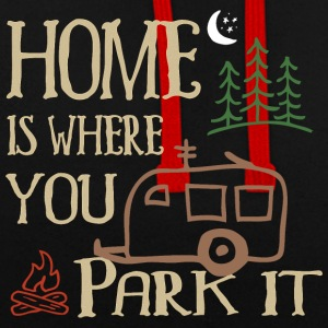 RVing Home Is Where You Park It - Contrast Colour Hoodie