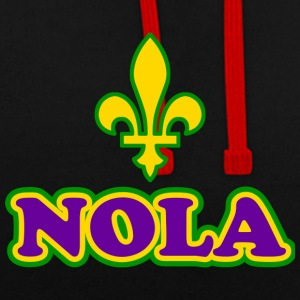 NOLA New Orleans Lousiana - Sweat-shirt contraste