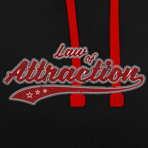 Law of Attraction Vintage - Contrast Colour Hoodie