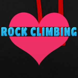 Love Rock Climbing - Contrast Colour Hoodie