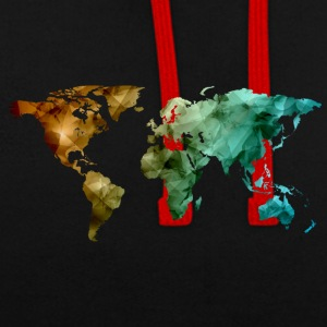 carte du monde - Sweat-shirt contraste