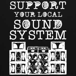 support you local soundsystem - Kontrast-Hoodie
