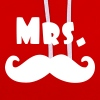 mrs moustache - Sweat-shirt contraste