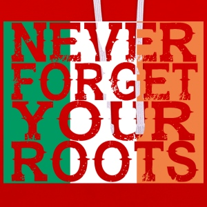 never forget roots home Irland - Kontrast-Hoodie