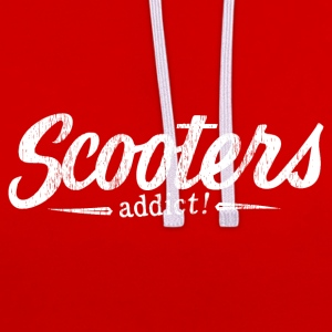 Scooters addict! - Contrast Colour Hoodie