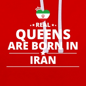 queens from gift i love IRAN - Contrast Colour Hoodie