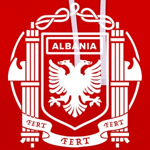 Flag of the Kingdom of Albania 39-43 - Contrast Colour Hoodie