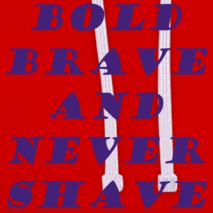 bold brave - Contrast Colour Hoodie