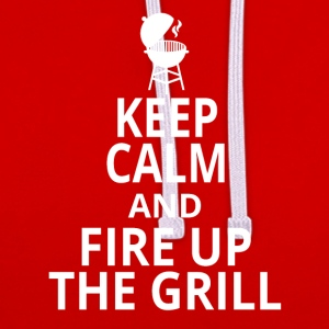 Fire up the grill - Contrast Colour Hoodie