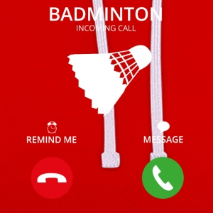 Call Mobile Call badminton - Contrast Colour Hoodie