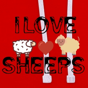 I love sheeps - Contrast Colour Hoodie