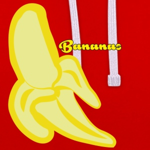 bananes - Sweat-shirt contraste