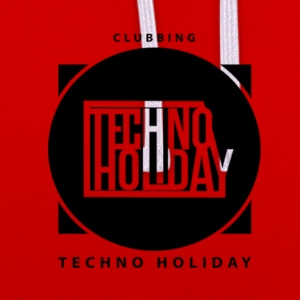 logo_techno_holiday_2017_negro1 - Contrast Colour Hoodie