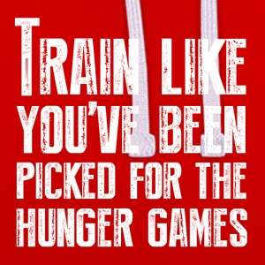 Train for the Hunger Games - Contrast Colour Hoodie