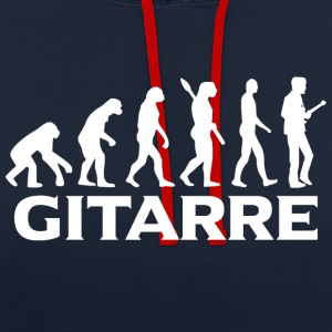 Evolution guitare guitariste poids - Sweat-shirt contraste