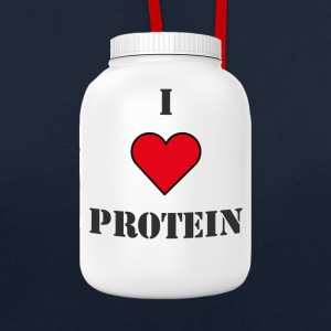 I LOVE PROTEIN - Contrast Colour Hoodie