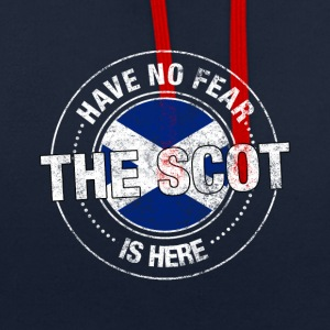 Have No Fear The Scot Is Here Shirt - Contrast Colour Hoodie