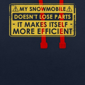 Funny Snowmobile Gift Idea - Contrast Colour Hoodie