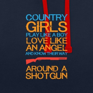 Country girls 01 - Contrast Colour Hoodie
